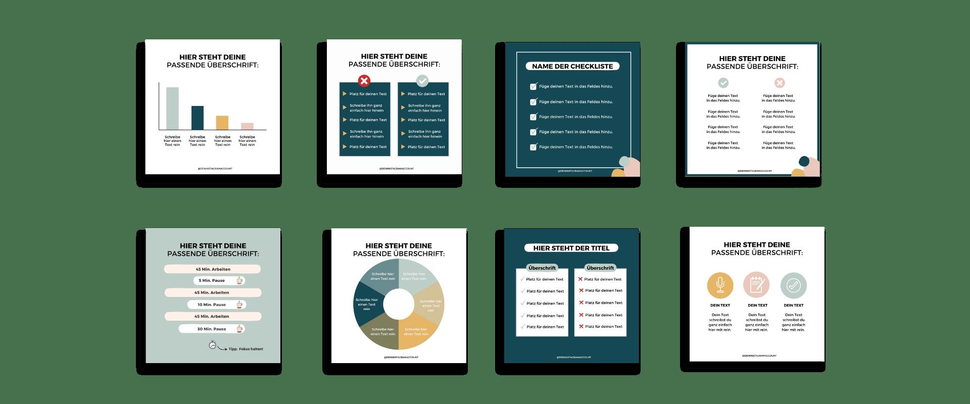 99 Design-Vorlagen für deinen Instagram Feed!