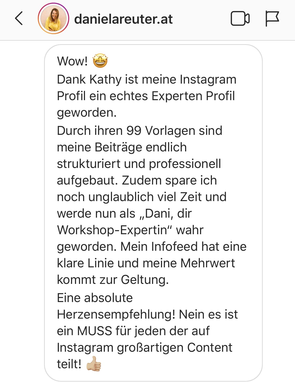 Feedback von danielareuter.at
