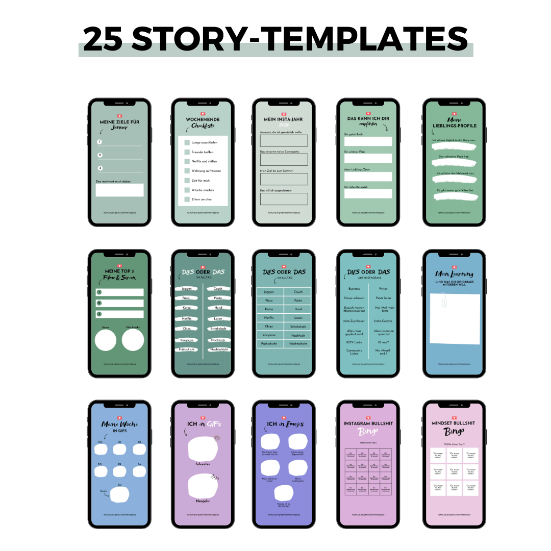 25 Story-Templates als Vorlage in Canva