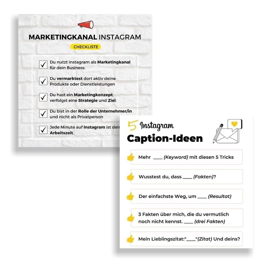 Checkliste Design Instagram Beispiel