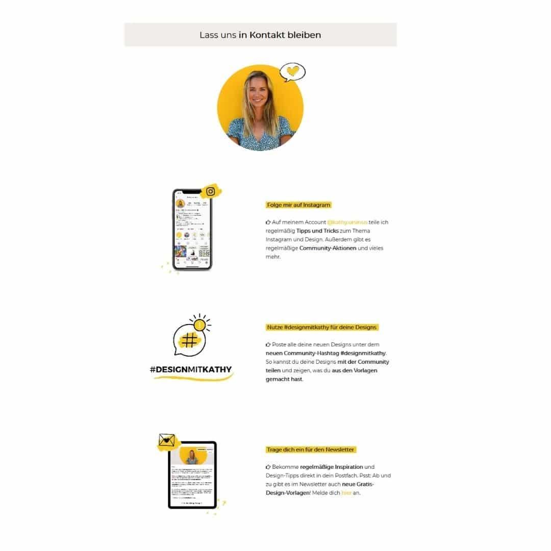Kontaktseite Onlinekurs Kathy Design