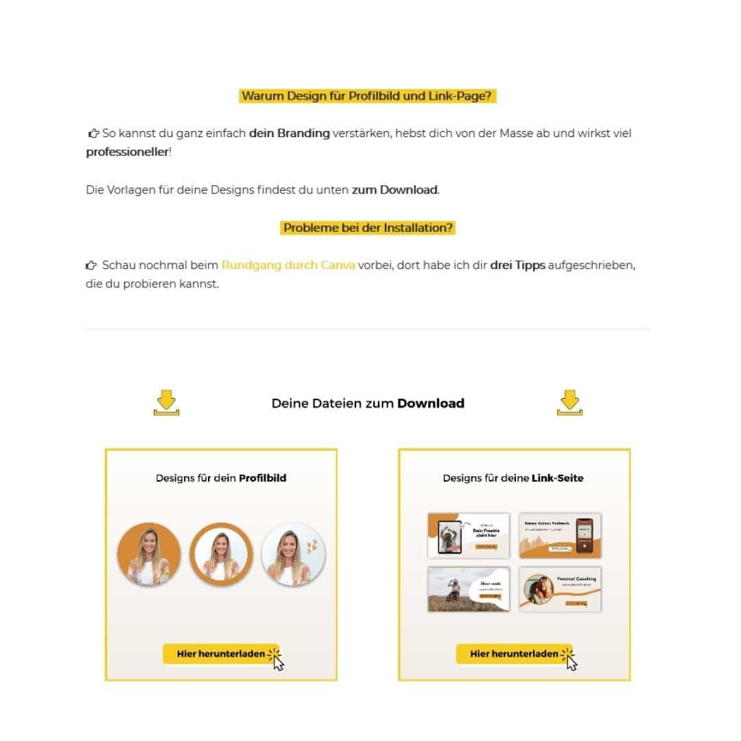 Onlinekurs Lektion Design Beispiel