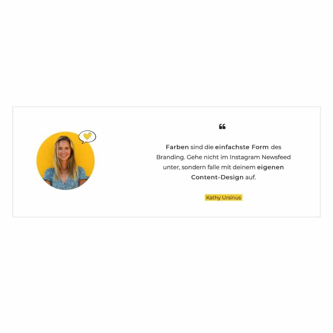 Zitat mit Foto Onlinekurs Design Beispiel