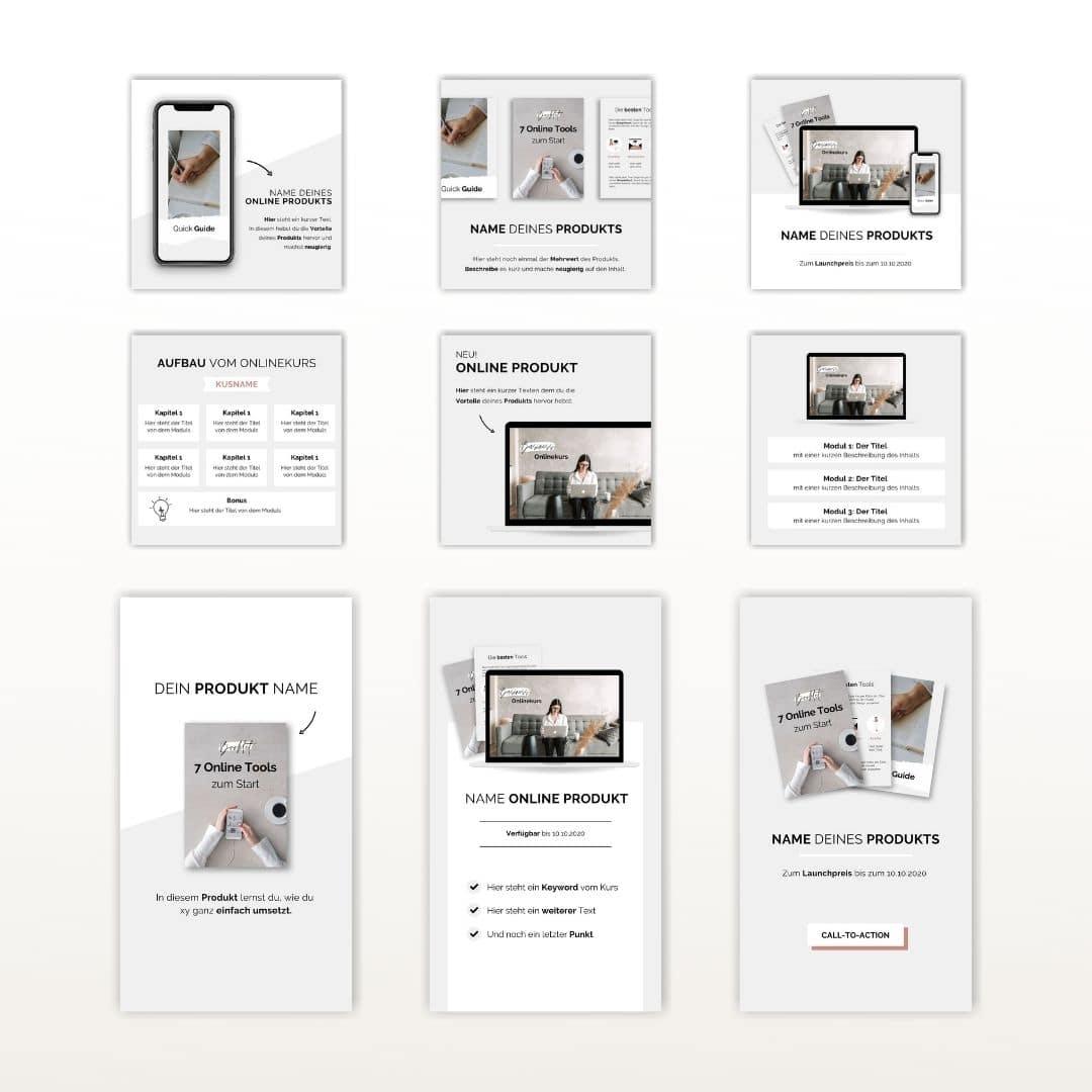 40 Design-Vorlagen für dein Marketing auf Instagram