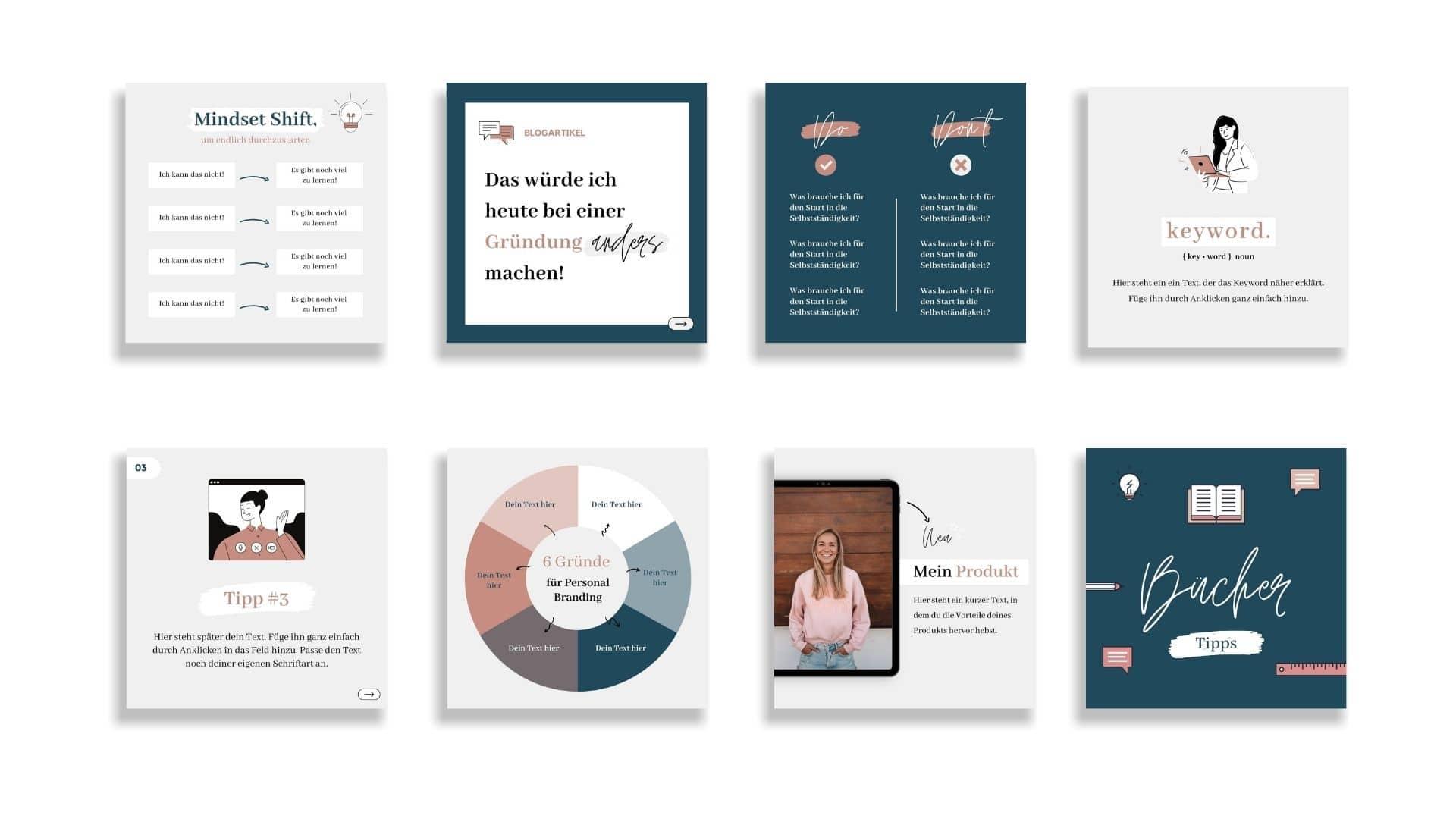Fempreneur Designset Einblick