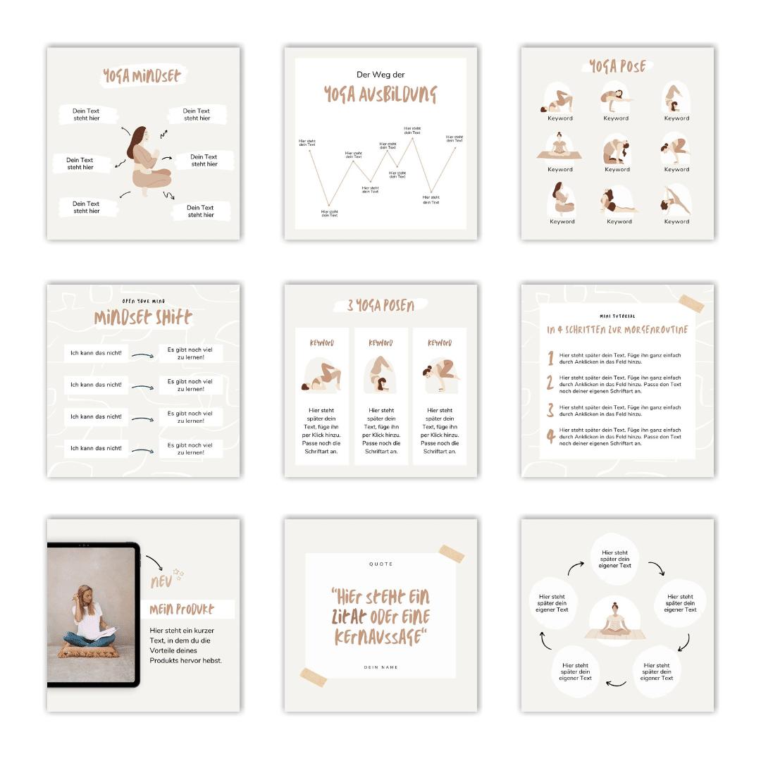 Design-Set Yoga Einblick