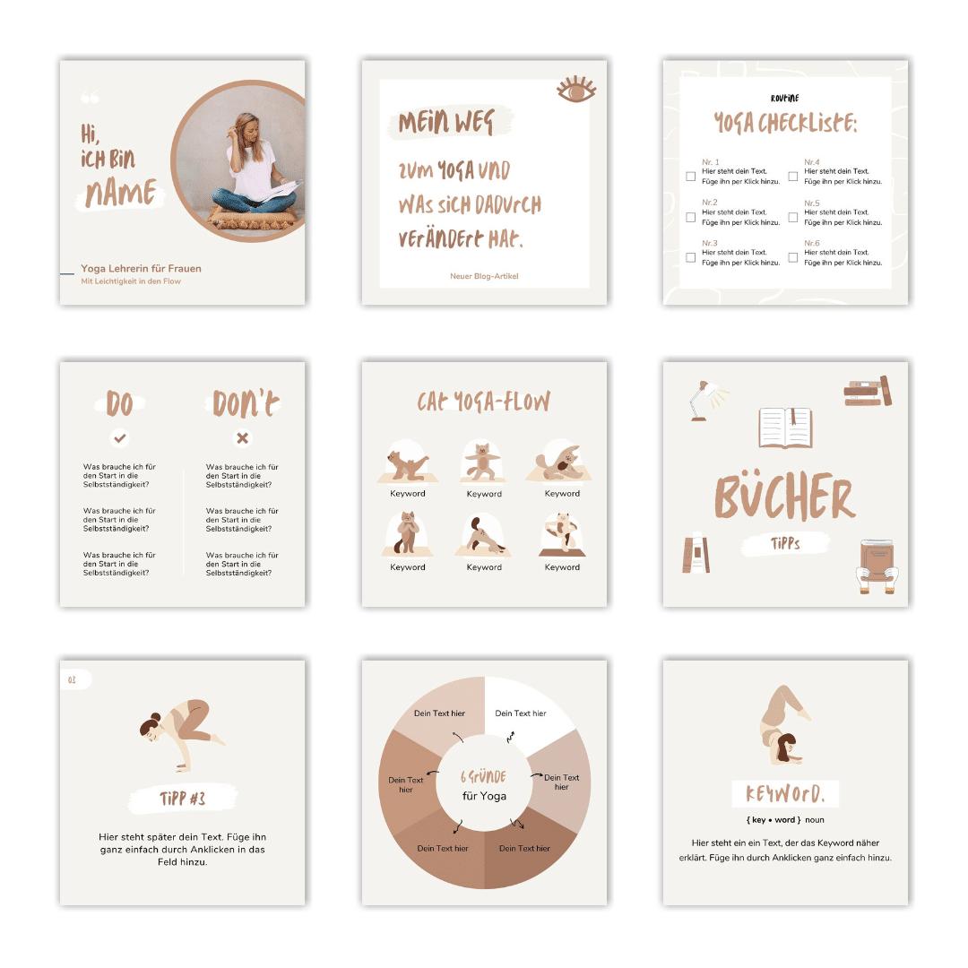 Designset Yoga Übersicht