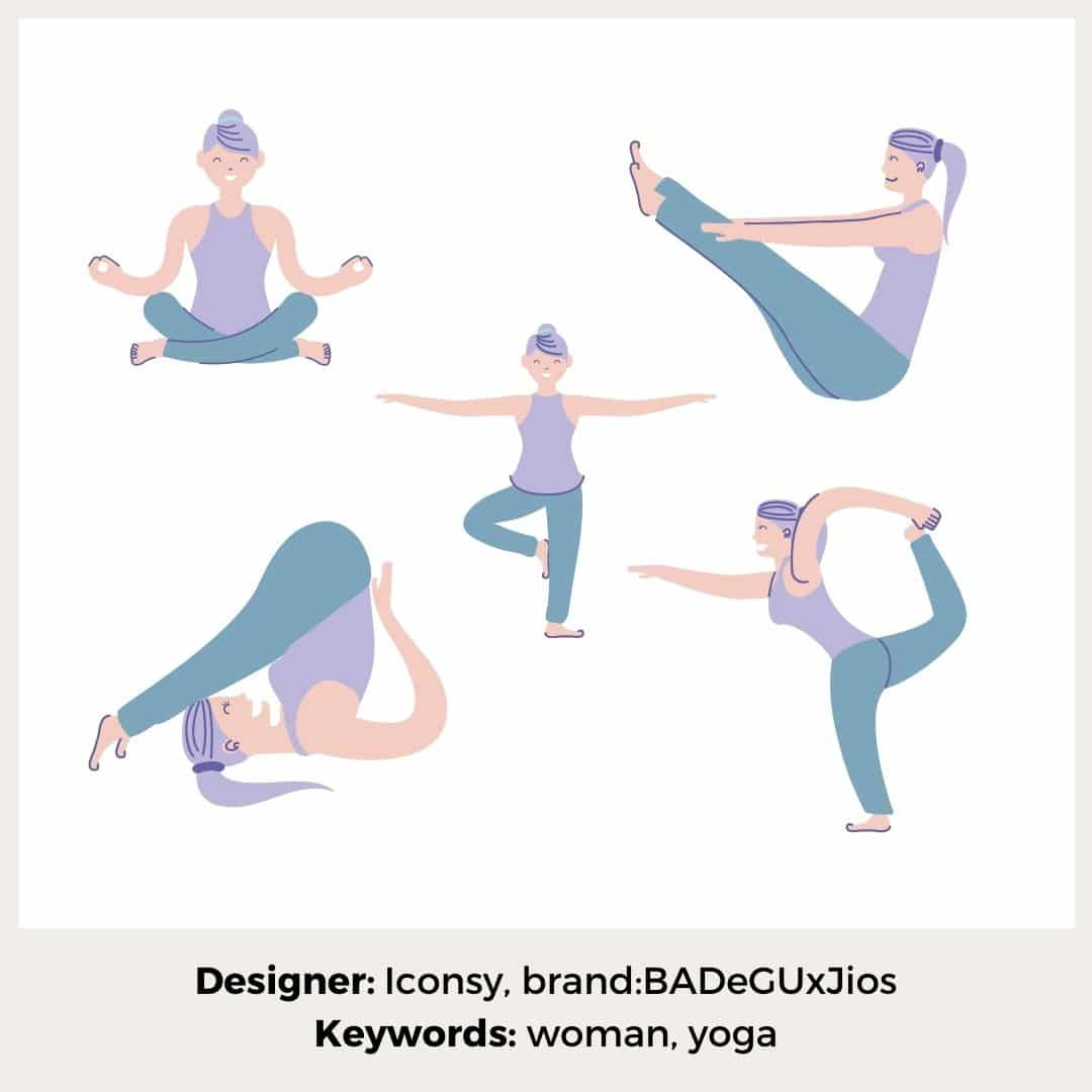 Yoga pastellfarben