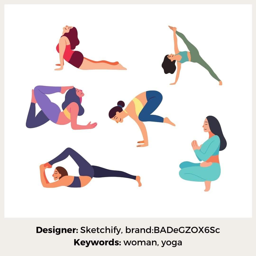 Canva Elemente Yoga