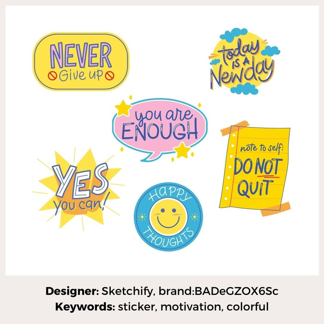 Motivations-Sticker