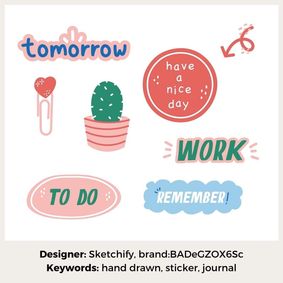 Sticker minimalistisch
