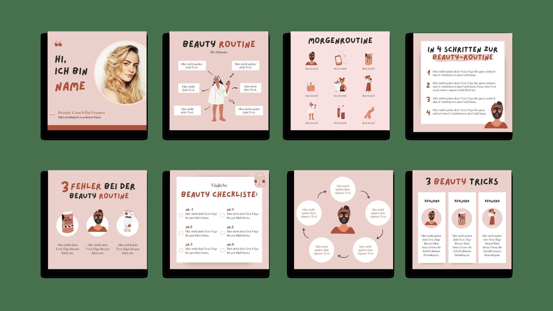 Design-Set Beauty Übersicht Teil 1