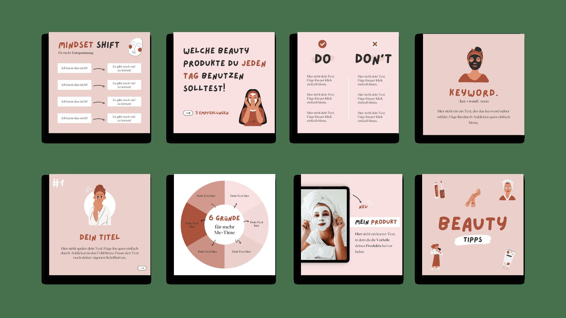 Design-Set Beauty Übersicht Teil 2