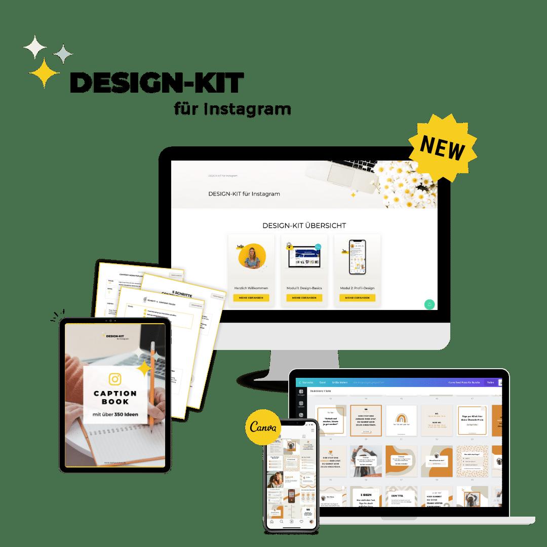 Design-Kit für Instagram Vorlagen Übersicht