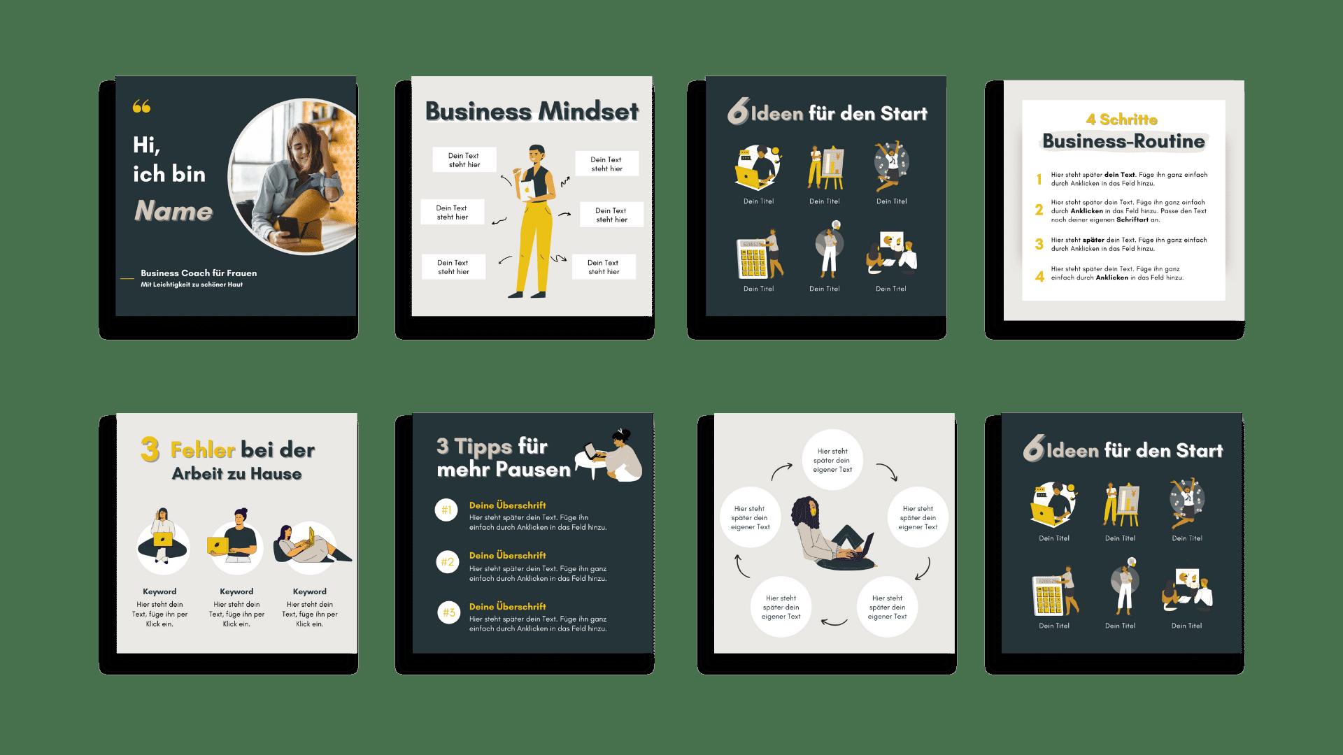 Design Set Business Uebersicht 1