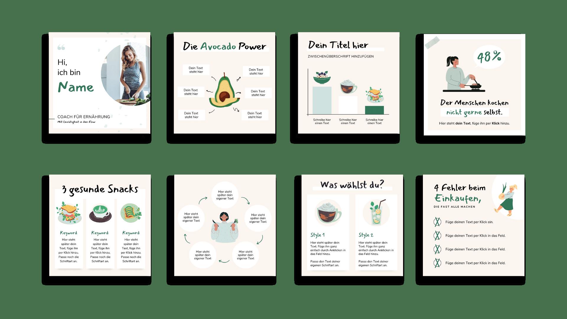 Design Set Ernaherung Uebersicht 1