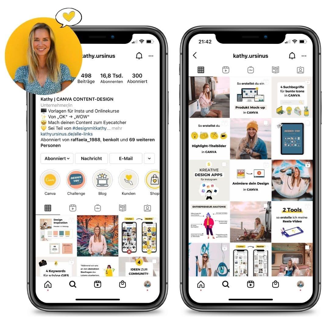 Design-Kit Instagram Profil und Feed Kathy.ursinus