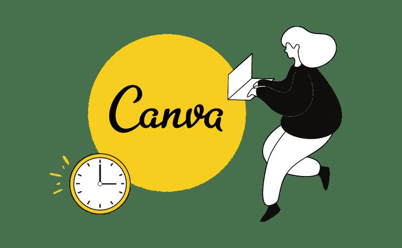 Zeit sparen dank Canva Tipps Titelbild