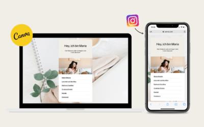 Instagram Link in Bio geschickt nutzen – Erstelle deine eigene Linkpage mit Canva