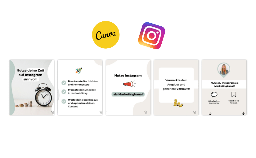 Titelbild in 4 Schritten schönen Instagram Post aus mehreren Bildern erstellen.