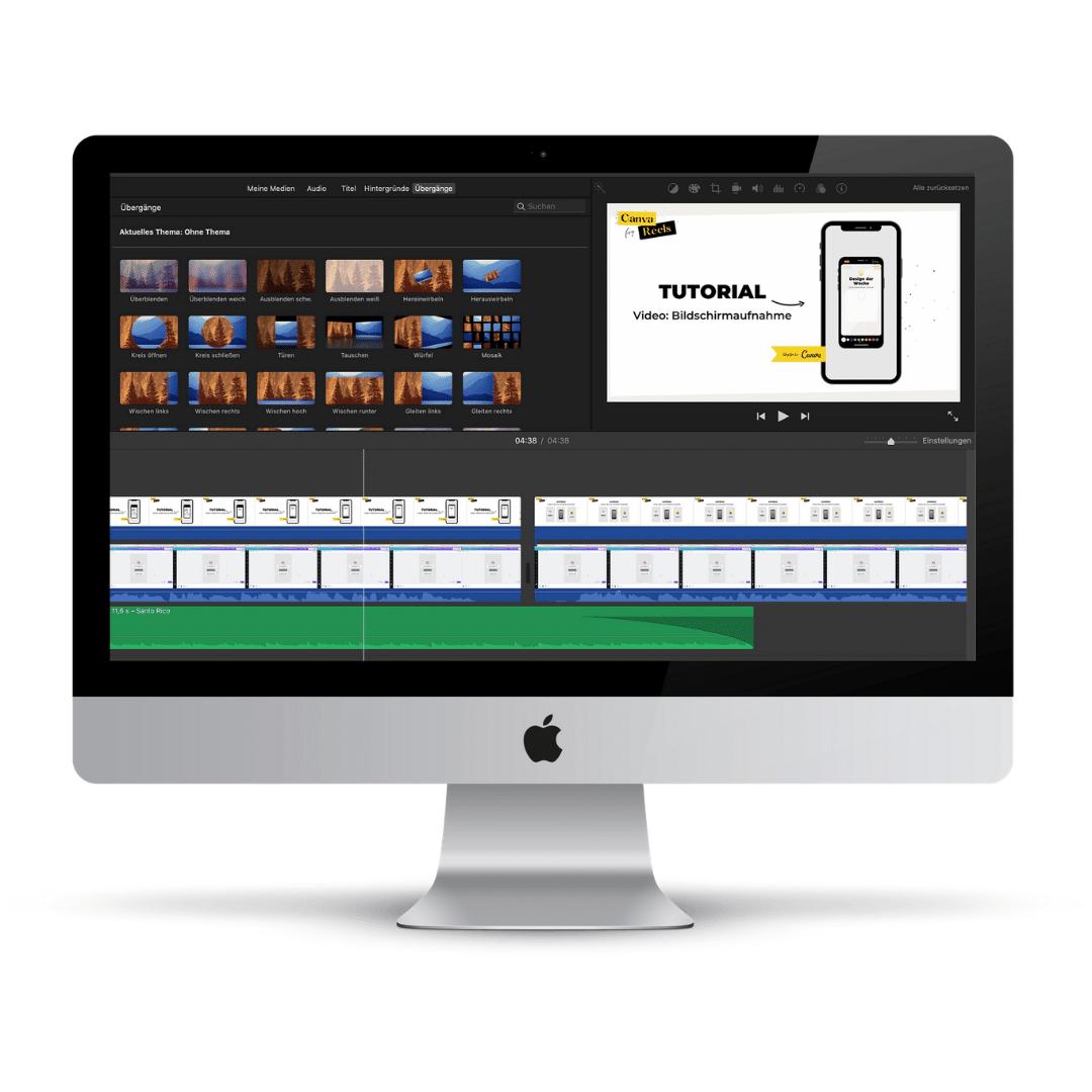 Schnitt meiner Videos im Business Tool iMovie