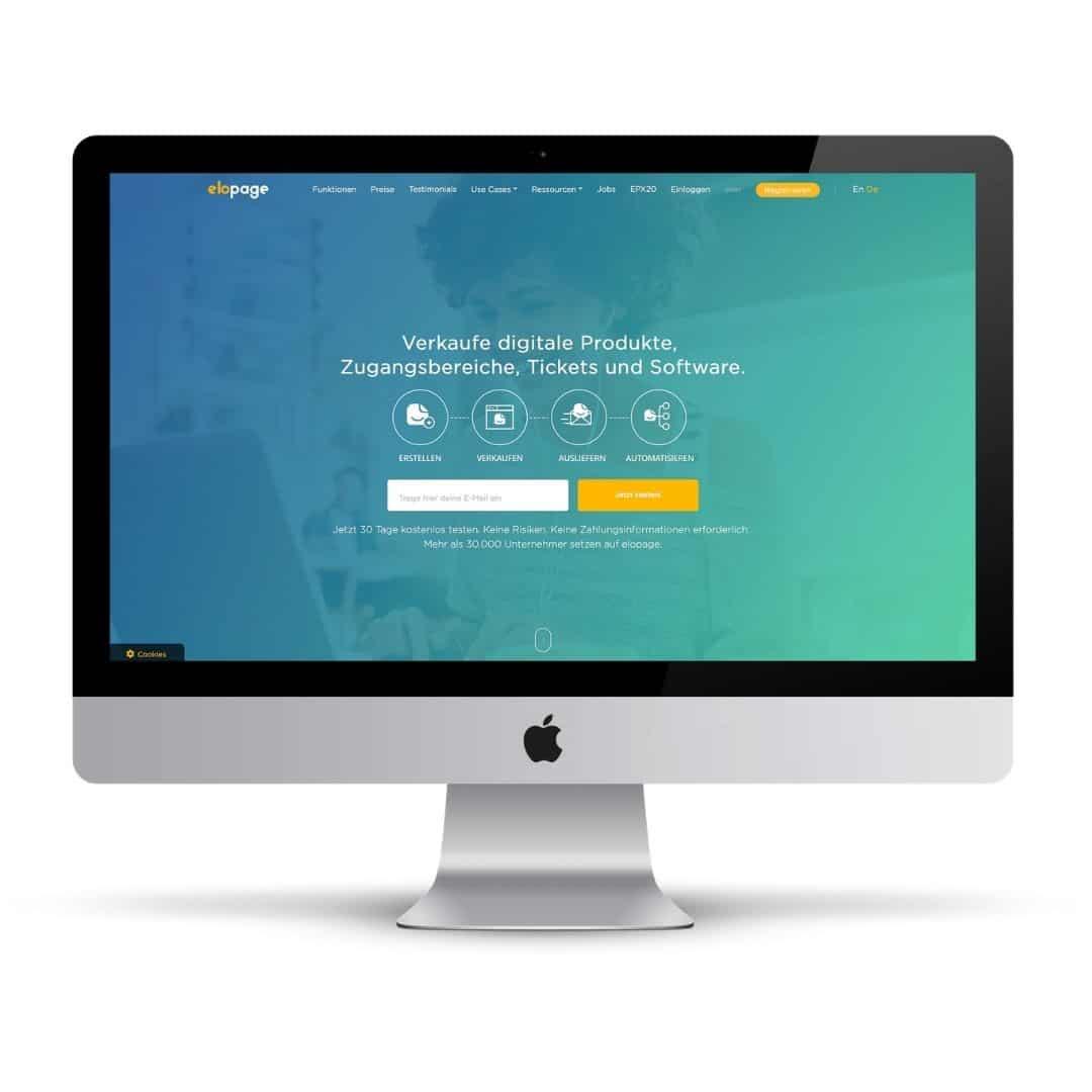 Produkt-Plattform und Zahlungsabwicklung: Elopage