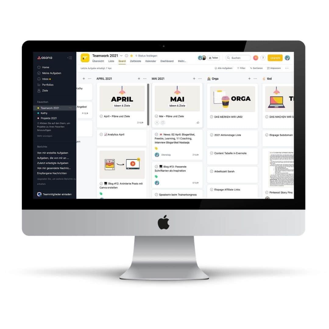 So nutze ich Asana im Online-Businessfür die Projektplanung