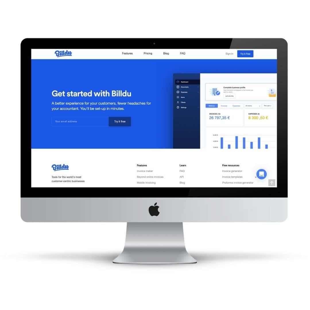 Das Business Tool Billdu für Rechnungen, Buchhaltung und Steuer
