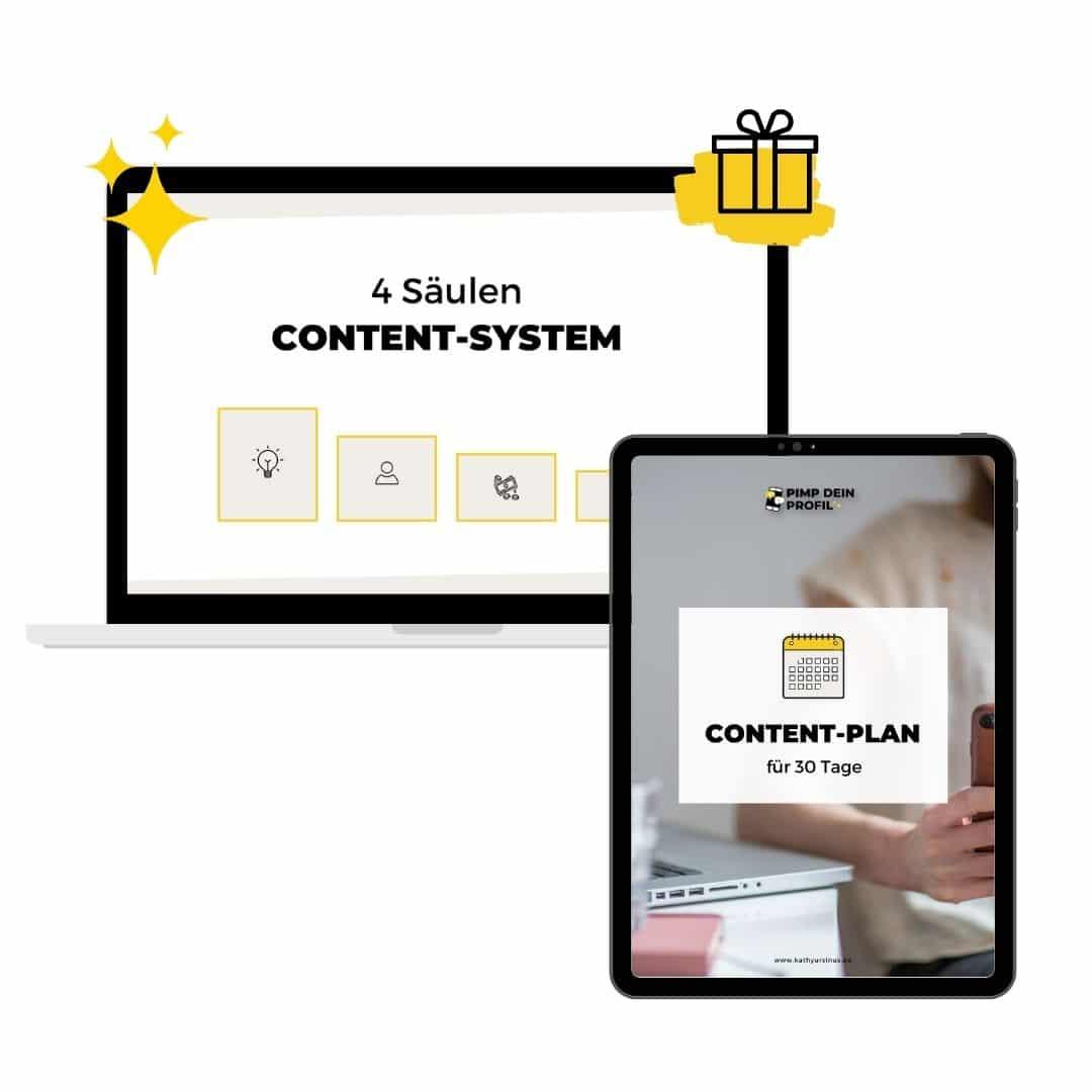 Profil Kurs für Instagram Content Plan